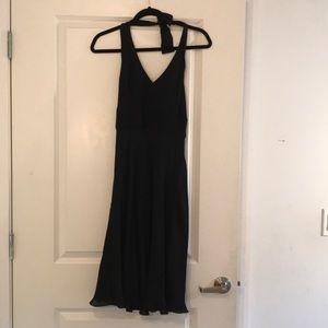 Ann Taylor silk kilter black dress